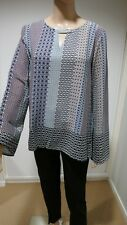 Womens Annabelle Print Blouse BNWT Size 12 Long Sleeve Multi Colour .boohoo