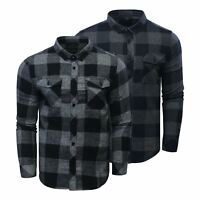 Mens Check Shirt Duck & Cover Chapman Flannel Brushed Cotton Collared Casual Top