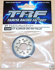 Tamiya 42309 37T Aluminum One-Way Pulley (TRF418/TRF419/TRF419X/*TA07), NIP
