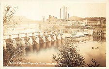 EauClaire WI Dells Pulp & Paper Company Real Photo RPPC Postcard