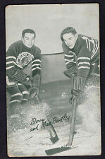 1948-49 Exhibits Sports Champion Doug and Max Bentley Chicago Black Hawks Good +