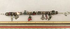 "Estate 8"" LOADED Charm Bracelet Kay Jewelers MA Michael Anthony sterling"