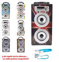 ALTAVOZ PORTATIL TORRE CAJA USB Radio FM Micro SD/TF MP3 Inalambrico con Mando