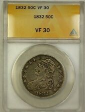 1832 Capped Bust Silver Half Dollar 50c ANACS VF-30 (Better Coin)