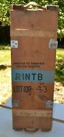 Rare 75MM M20 RECOILLESS AMMO CRATE  R1NTB CANNON EXPLOSIVE PROJECTILE 1954 #2