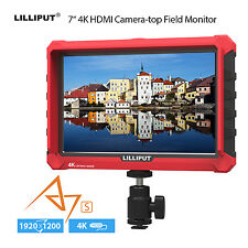 "7"" IPS Video Monitor 4K HDMI Input/Output Camera-Top Monitor Auxiliary Functions"