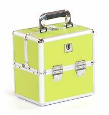 Vanity makeup jewellery cosmetic hair beauty nail trinket case box lime green