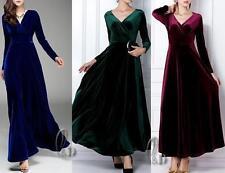 Hand-wash Only Velvet Maxi Dresses for Women