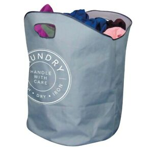 XL LAUNDRY BAG Basket Strong Handles Foldable Washing Sack Clothes Storage Bin