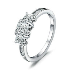 JewelryPalace Cubic Zirconia Wedding Engagement Ring 925 Sterling Silver