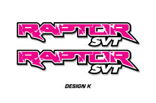 """Ford F150 48"""" x 9.5"""" RAPTOR SVT Truck Bed Graphic Decal Stickers 10-14 PINK"""