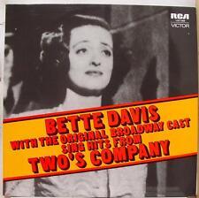 Bette Davis + Original Cast - Two's Company LP Mint- LOC 1009 Australia Vinyl
