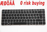 For HP EliteBook Folio 1040 G3 844423-DH1  Keyboard Nordic Scandinavian Backlit
