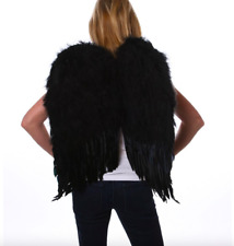 Large Black Feather Wings Angel Fairy Costume Carnival Halloween 23x22