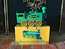 New Vintagecrayola 1903 Color Line Train Crayon Holder & Sharpener with Crayons