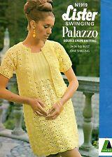 "Lister 1919 Vintage Ladies Knitting Pattern, DK Dress, Cardigan 34-36"""