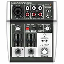 BEHRINGER XENYX 302 USB 5-Input mixer USB / Audio Interface w/ Tracking