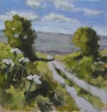 Between the Trees : Original Impressionist Oil Painting on Board : Shaun Viney