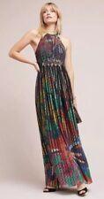Geisha Designs Kalinka Maxi Size 16 Halter Pleated Dress $248 Fabulous Rare