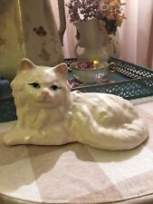 Vintage Large Art Pottery Persian? Cat Planter Hand Painted Mid Century 1950's?