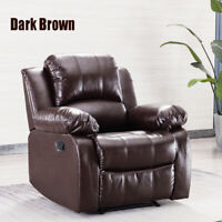Oversize Recliner Chair Overstuffed Padded Arm Back Extra Comfy Leather Sofa