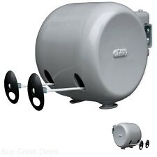 49 Dual Retractable Reel Outdoor Dryer Clothes Line Clothesline Laundry Washing