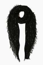 NEW! Chan Luu COSMOS Stars BLACK Cashmere Silk Scarf Wrap
