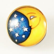 Button Click Druckknopf 4027 Smiley Glas kompatibel Chunk Armband