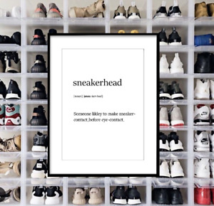 Sneakerhead Definition - Adidas, Nike, Kicks Print Poster Wall Art A2 A3 A4 A5