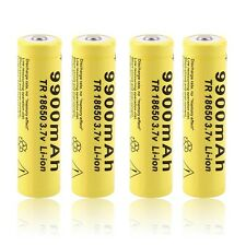 4pcs 3.7V 18650 9900mah Li-ion Rechargeable Battery For LED Flashlight Torch LO