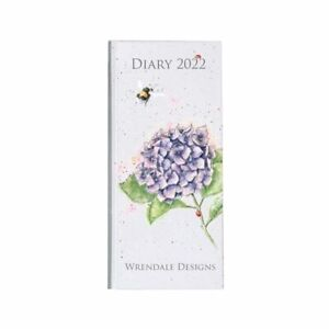 Wrendale Designs Slim Diary 2022 - Bumblebee & Lilac Hydrangea Decorated Planner