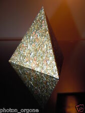 Pyramide d'Orgone tétraèdre GEO chakra Yin Yang attaque psychique shungite sodalite