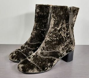 CHLOE Lexie Velvet Ankle Boots, Color-Mainly Brown, Womens Size 8.5 / 38.5  $995