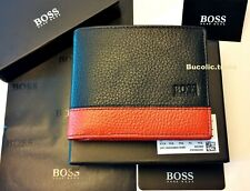 MENS NEW DESIGNER HUGO BOSS MADIAL 50261800 BI-FOLD GRAINED LEATHER WALLET