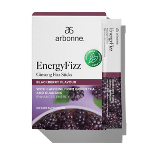 Arbonne EnergyFizz Ginseng Fizz Sticks – Blackberry Flavour (Loose Sachets)