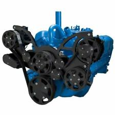 AMC Jeep All Inclusive Black Serpentine Kit for 304 360 401 Engines ALT PS AC