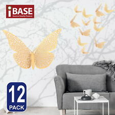 3d Butterfly DIY Wall Decal Removable Sticker Wedding Nursery Home Decor Gold B
