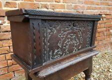 16th Century Italian Antique Cypress Wood Pen-Work Box, Circa 1580