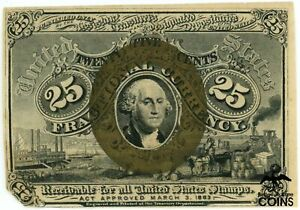SPECIMEN UNITED STATES 25C FRACTIONAL CURRENCY BEAUTIFUL NOTE!