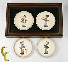 Lot of 4 Hummel Miniature Collectors' Plates 1984 - 1987, All Boxes Included