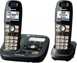 Panasonic Cordless Phone 6.0 Amplified Built-in Answering  Factory Sealed