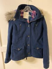 Aeropostale Heavy Coat With Fur Hoodie Size Large