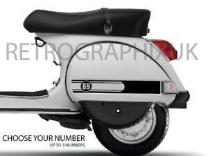 Vespa PX 125 150 200 Sticker Decal  fits Side Panel Scooter Skinhead Mod Custom
