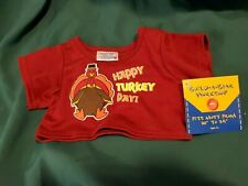 Build A Bear Limited Edition Turkey Day Tee Thanksgiving  NEW