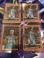 Ja Morant 20-21 NBA Hoops Purple Explosion Slam & 3 Donruss 107 Orange Lot Of 4