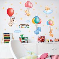 Animal Balloon DIY Wall Stickers Nursery Kids Room Removable Mural Decal Decor