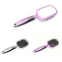 Hair Brush with Detachable Mirror Detangling Hair Comb with Ultra Soft Bristles