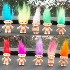 "New 10Pcs Lot Random Vintage Trolls Lucky Doll Mini Figures Toy 1"" Cake Toppers"