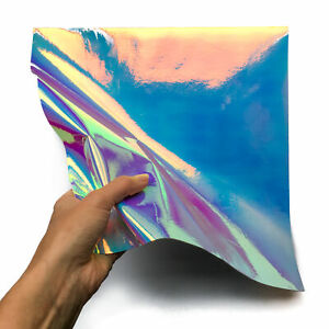 Trending Holographic Leather 12x12in/30x30cm Sheets // Metallic Genuine Leather