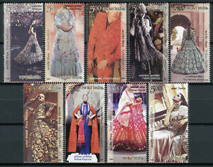 India Cultures Stamps 2020 MNH Indian Fashion Traditional Dress Costumes 9v Set